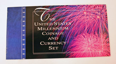 Millennium Coin and Currency Set Booklet front