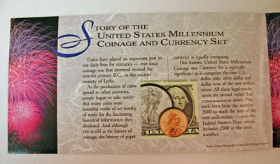 Millennium Coin and Currency Set Booklet page 1