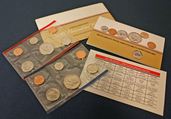 1986 Mint Set opened showing contents