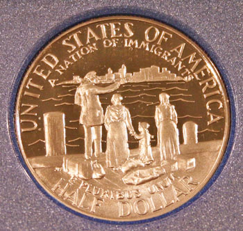 1986 Prestige Set commemorative half dollar reverse