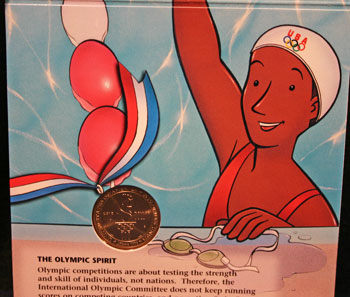 Young Collectors Edition Coin Sets 1996 Atlanta Olympics Swimming coin package contents 3
