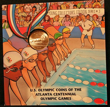 Young Collectors Edition Coin Sets 1996 Atlanta Olympics Swimming coin package front