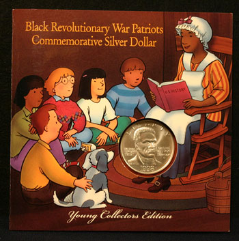 Young Collectors Coin Sets 1998 Black Patriots silver coin package front