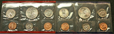 1998 Mint Set reverse images of coins