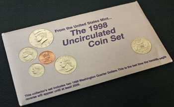 1998 Mint Set uncirculated coins
