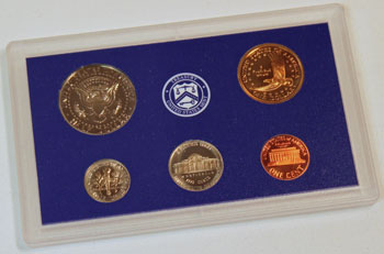2001 Proof Set reverse images of regular proof coins