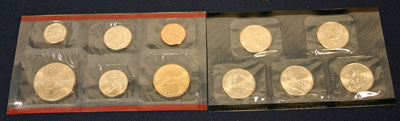 2005 Mint Set reverse view of uncirculated coins minted in Denver