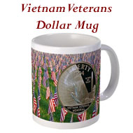 Vietnam Veterans Commemorative Dollar Mug on the Greater Atlanta Coin Show's Numismatic Shoppe