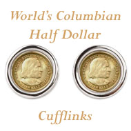World's Columbian Cufflinks on Greater Atlanta Coin Show's Numismatic Shoppe